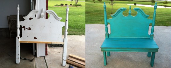 Repurpose an old Headboard into a Bench...