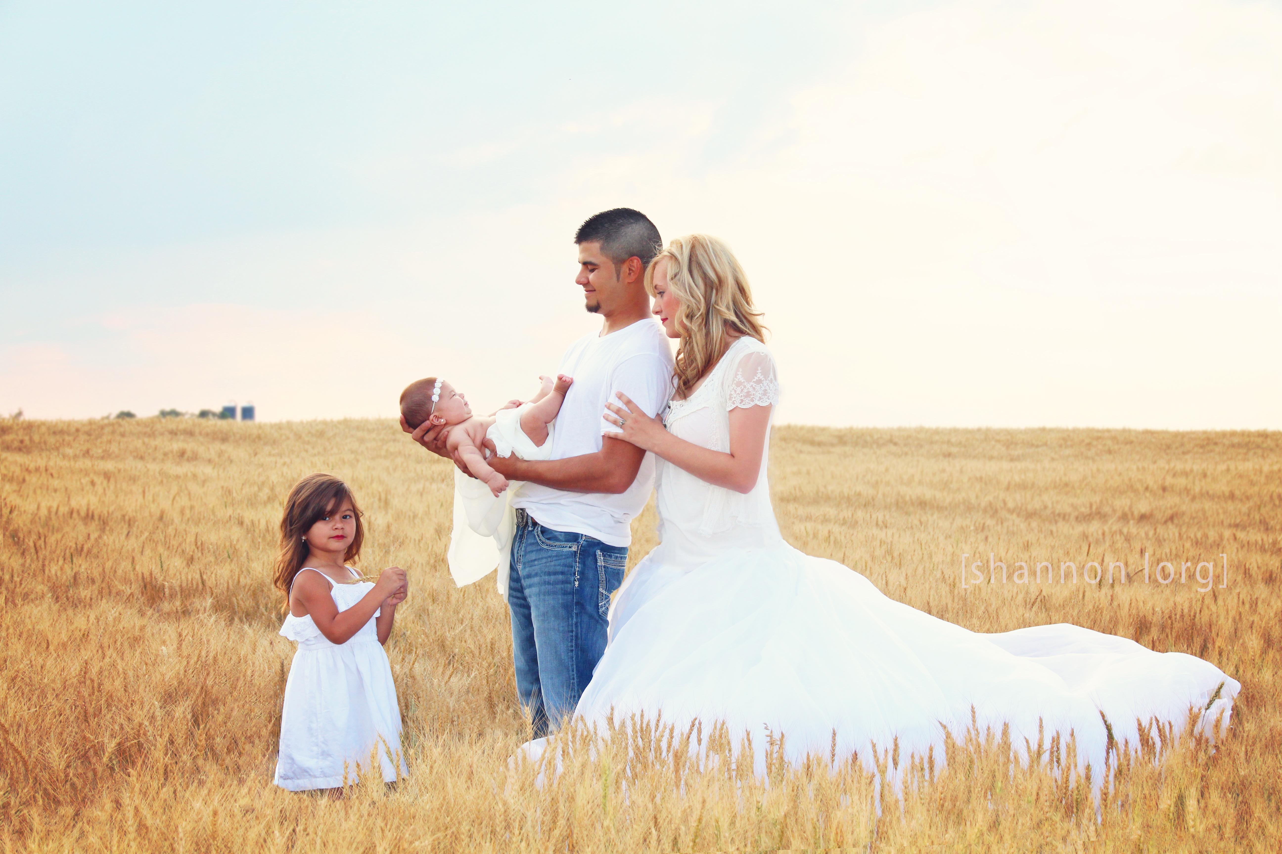 A Vintage Wedding Dress And An Oklahoma Wheat Field