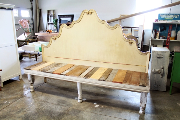 A whimsical headboard turned into funky repurposed goodness...